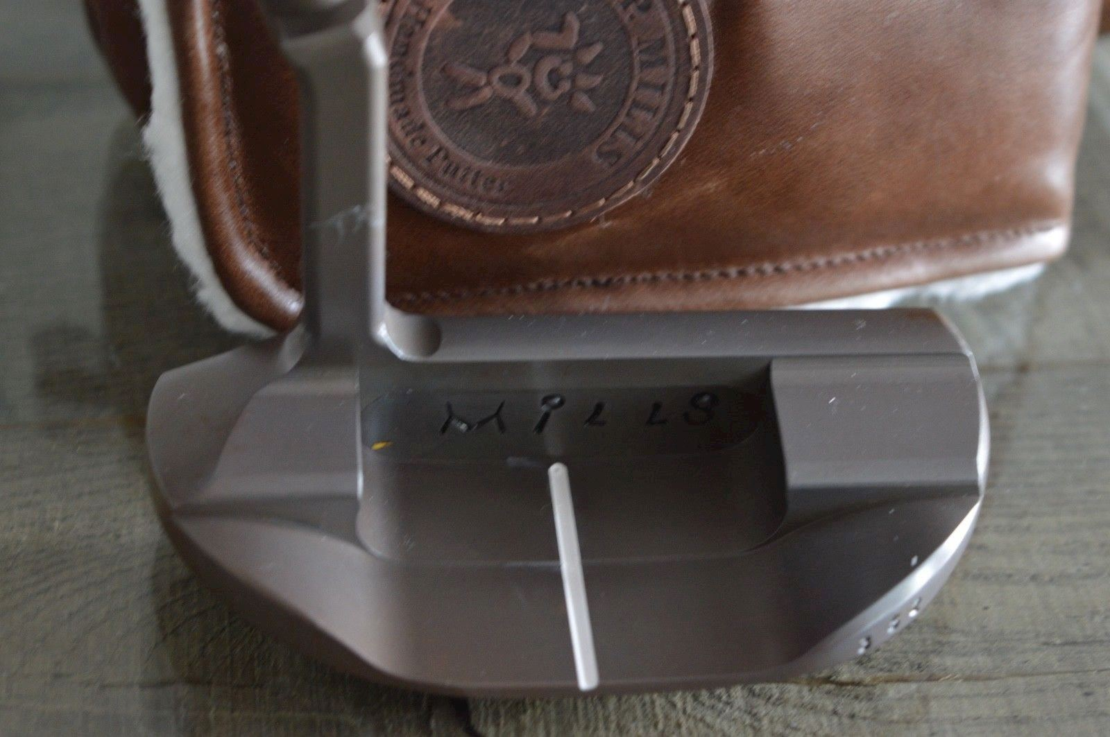 T.P.Mills Co. Hand Made Golf Putter - Sycamore flamed German Steel